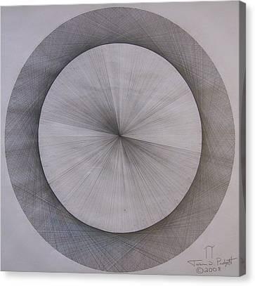 The Shape Of Pi Canvas Print by Jason Padgett
