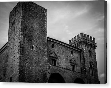 The Shattered Fortress Canvas Print by Andrea Mazzocchetti