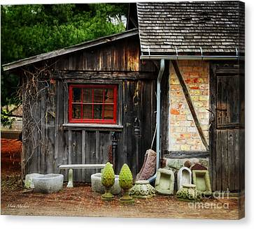 The Shed At Monches Farm Canvas Print by Mary Machare