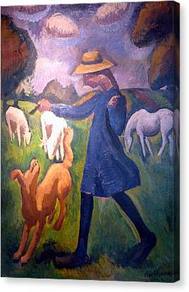 The Shepherdess Canvas Print by Roger de La Fresnaye