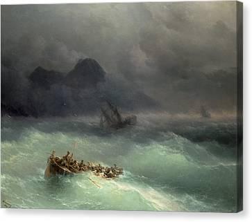 The Shipwreck Canvas Print by Ivan Konstantinovich Aivazovsky