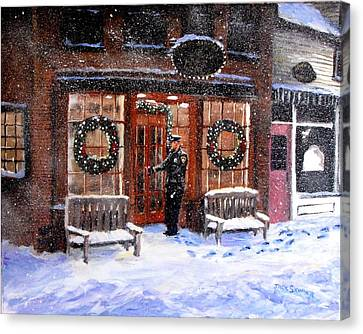 The Shiver And Shake Watch On Christmas Eve Canvas Print by Jack Skinner