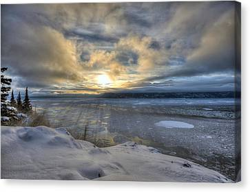 The Shortest Day Canvas Print by Ted Raynor