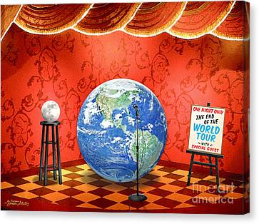 The Show Must Go On Canvas Print by Cristophers Dream Artistry