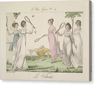 The Shuttlecock, Plate 11 From Le Bon Canvas Print by French School