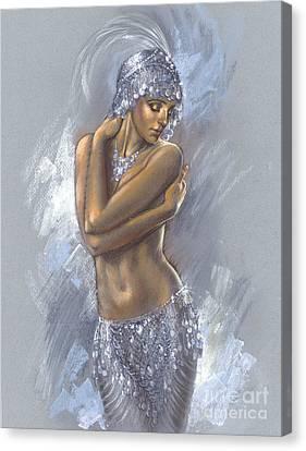 The Silver Dancer Canvas Print by Zorina Baldescu