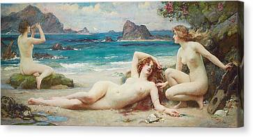 The Sirens Canvas Print by Henrietta Rae
