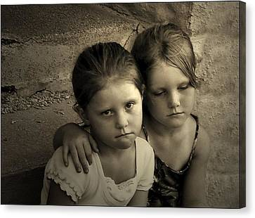 The Sisters Canvas Print by Julie Dant