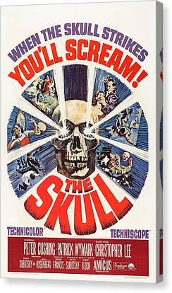 The Skull, Us Poster, Peter Cushing Top Canvas Print by Everett