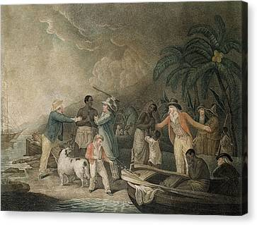 The Slave Trade, 1835 Coloured Engraving Canvas Print by George Morland