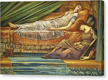 The Sleeping Princess Canvas Print by Sir Edward Burne-Jones