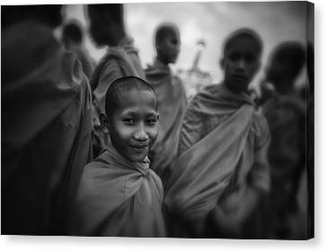 The Smile Of A Novice Canvas Print by David Longstreath
