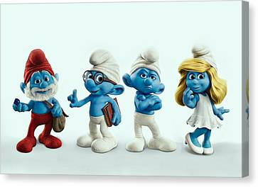The Smurfs Movie Canvas Print by Movie Poster Prints