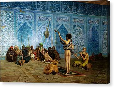 The Snake Charmer Canvas Print by Jean-Leon Gerome