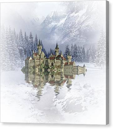 The Snow Palace Canvas Print by Sharon Lisa Clarke