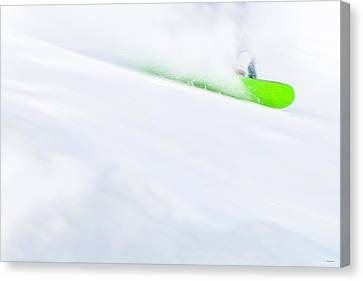 The Snowboarder And The Snow Canvas Print by Theresa Tahara