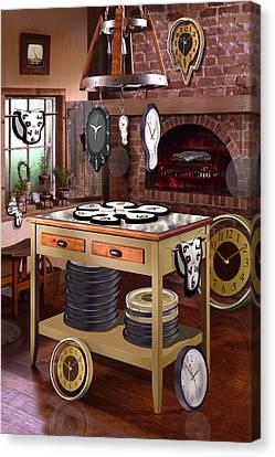 The Soft Clock Shop 2 Canvas Print by Mike McGlothlen