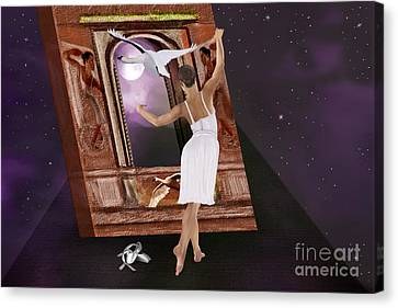 The Song Of The Swan Canvas Print by Sydne Archambault
