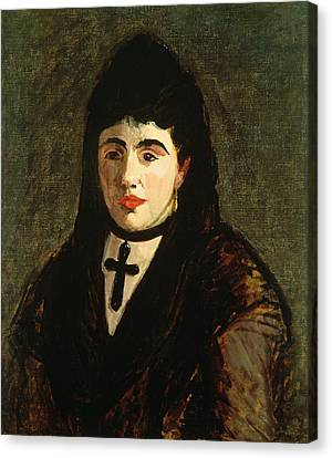 The Spaniard Canvas Print by Edouard Manet