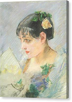 The Spanish Woman Canvas Print by Eva Gonzales