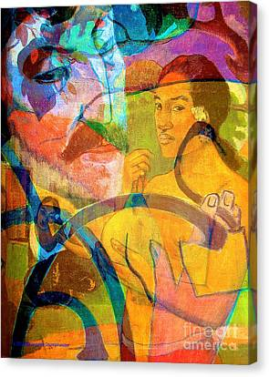 The Spirit Of Paul Gauguin Canvas Print by Jerome Stumphauzer