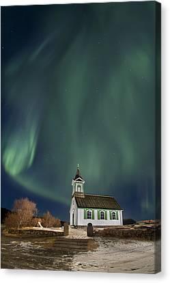 The Spirit Of Iceland Canvas Print by Evelina Kremsdorf