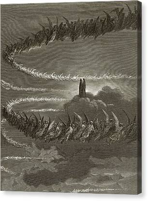 The Spirits In Jupiter Canvas Print by Gustave Dore
