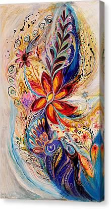The Splash Of Life 5 Canvas Print by Elena Kotliarker