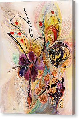 The Splash Of Life Series No 2 Canvas Print by Elena Kotliarker