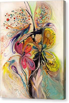 The Splash Of Life Series No 3 Canvas Print by Elena Kotliarker