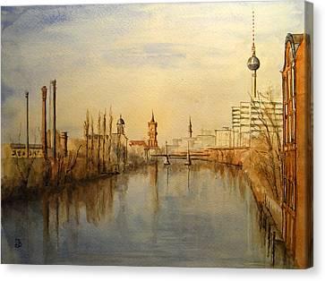 The Spree Berlin Canvas Print by Juan  Bosco