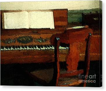 The Square Piano Canvas Print by RC DeWinter