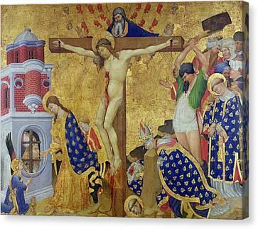 The St. Denis Altarpiece Canvas Print by Henri Bellechose