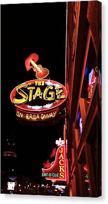 The Stage On Broadway In Nashville Canvas Print by Dan Sproul