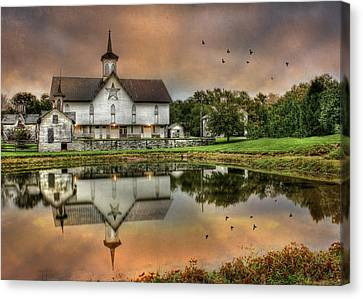 The Star Barn Canvas Print by Lori Deiter
