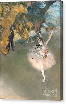 The Star Or Dancer On The Stage Canvas Print by Edgar Degas