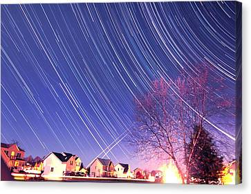 The Star Trails Canvas Print by Paul Ge