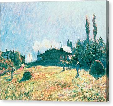 The Station At Sevres Canvas Print by Alfred Sisley