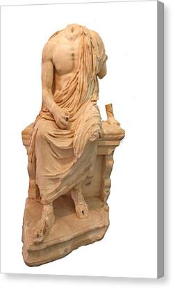 The Statue Of The Unidentified Philosopher Canvas Print by Tracey Harrington-Simpson