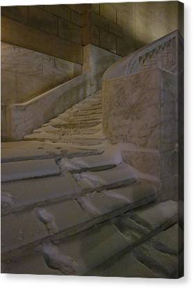The Steps Out Of Sight Canvas Print by Guy Ricketts