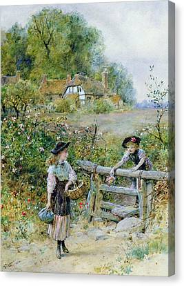 The Stile Canvas Print by William Stephen Coleman