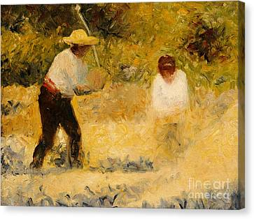 The Stone Heap Canvas Print by Georges Pierre Seurat