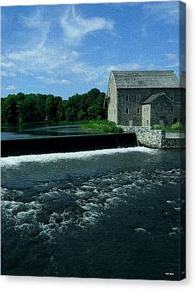 The Stone Mill Canvas Print by Val Arie