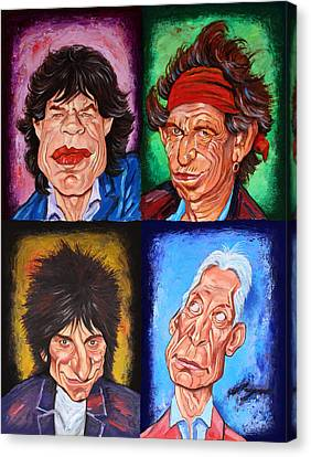 Mick Jagger Poster Canvas Print featuring the painting The Rolling Stones by Dan Haraga