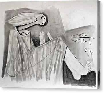 The Storm  Study Canvas Print by Mark M  Mellon