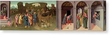The Story Of Joseph, I Canvas Print by Bartolomeo di Giovanni