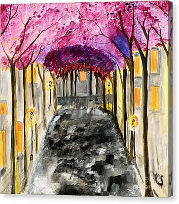 The Street Where You Live  Canvas Print by Katy  Scott