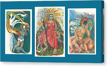 The Strength Tryptic Canvas Print by Melinda Dare Benfield