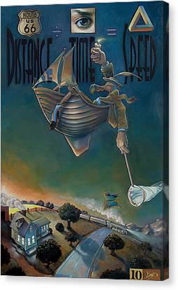 The Strife Of Wanderlust In A Dream Canvas Print by Patrick Anthony Pierson