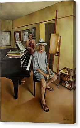 The Studio Canvas Print by Jolante Hesse